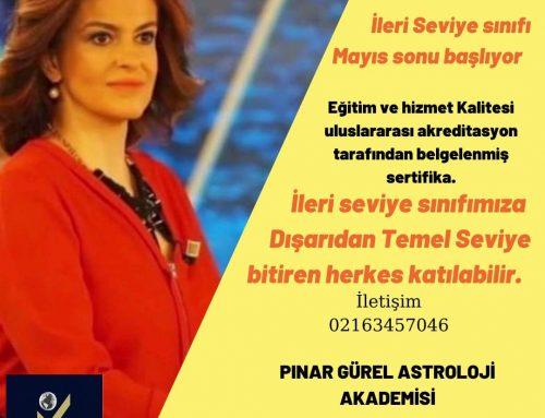 ULUSLARARASI SERTİFİKALI İLERİ SEVİYE ASTROLOJİ  ONLİNE EĞİTİM YENİ SINIFIMIZ MAYIS SONU BAŞLIYOR!!
